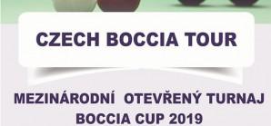 CZECH BOCCIA TOUR  Mezinárodní turnaj Boccia Cup 2019 -  týmů, párů i jednotlivců